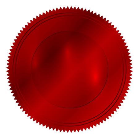 signatory: Vector illustration of red seal Illustration
