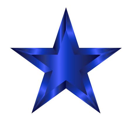 estrella azul: Vector illustration of blue star
