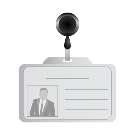 cardholder: Vector illustration of blank plastic id cards