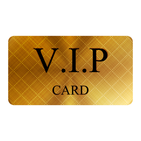 approval icon: Vector illustration of gold vip card