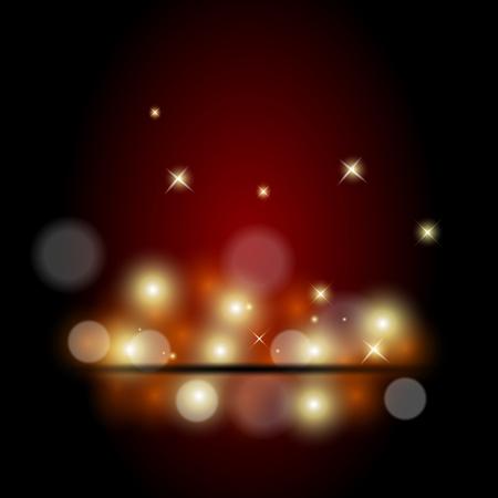 blue dark: Vector illustration of red spotlight background Illustration