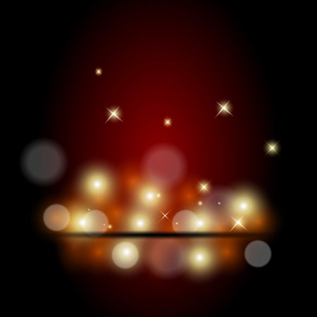 light blue background: Vector illustration of red spotlight background Illustration