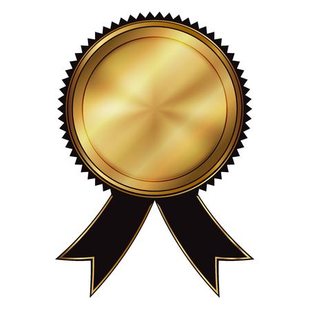 Illustrazione vettoriale di sigillo oro