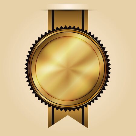 guarantee seal: Vector illustration of gold seal Illustration
