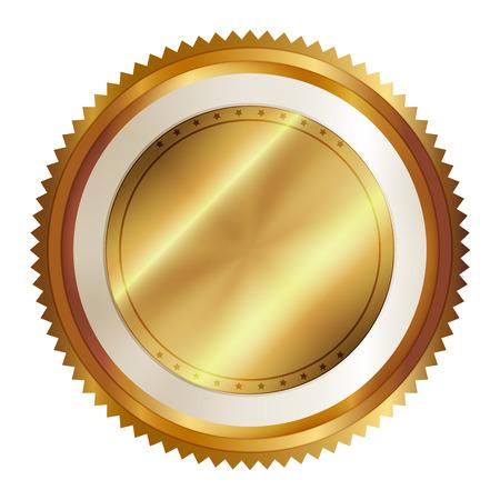 signatory: Vector illustration of gold seal Illustration