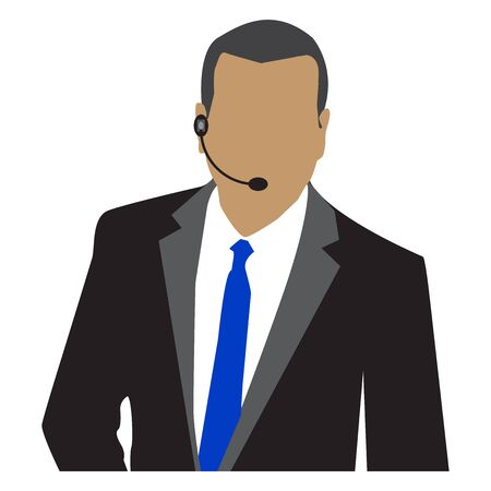 salesman: Vector illustration of Salesman Stock Photo
