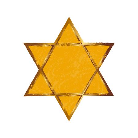 Vector illustration of star of david