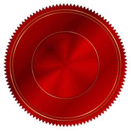 signatory: Vector illustration of red seal Stock Photo