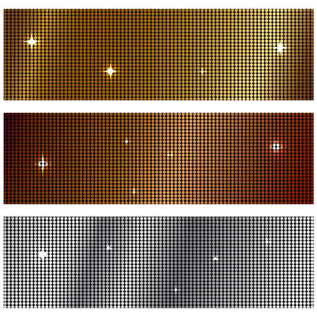 Vector illustration of metal textures Stock Photo