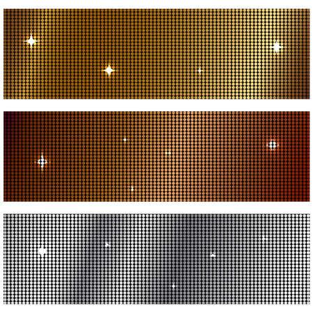 metal textures: Vector illustration of metal textures Stock Photo