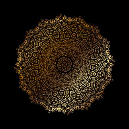 Vector illustration of Mandala gold Illustration