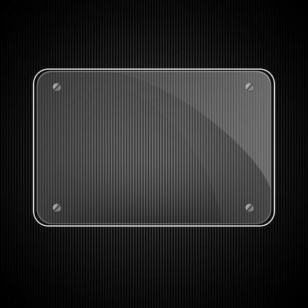 black button: Vector illustration of glass panel Illustration