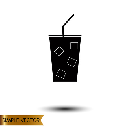 whie wine: Vector illustration of drink icon