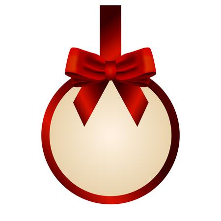 Vector illustration of Christmas gift card