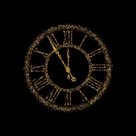 magic hour: Clock Icon Vector