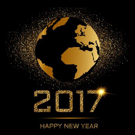 nightlife: Happy New Year gold Illustration