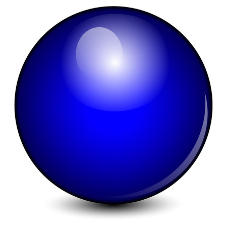 Vectorillustratie van blauwe bal