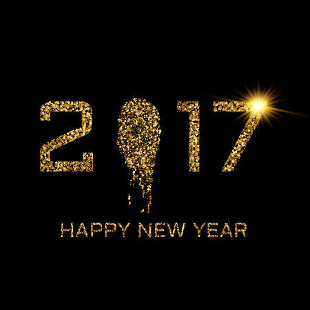 glisten: Happy New Year gold Illustration