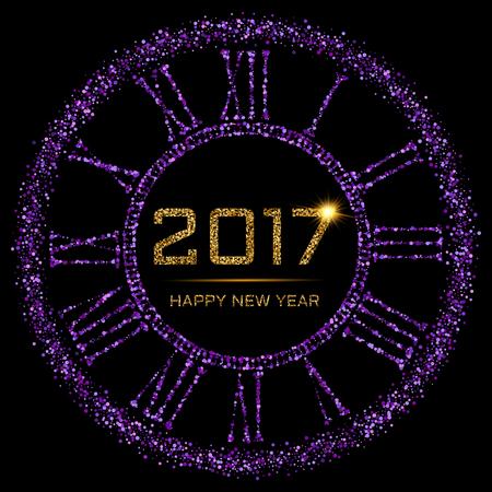 fiestas electronicas: Feliz Año Nuevo de oro Vectores