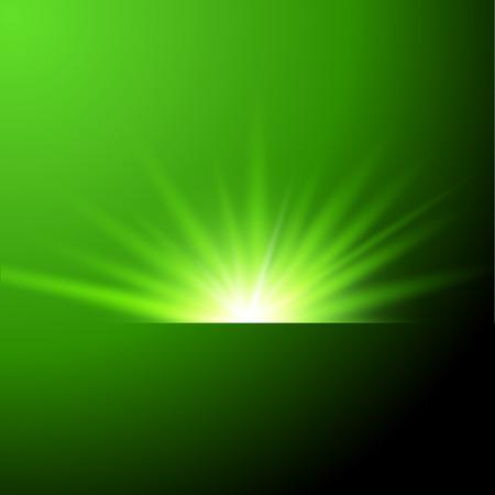 Vector illustratie van groene zon