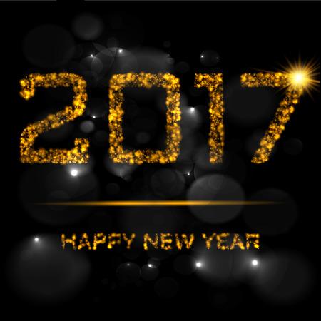 Happy New Year gold Illustration