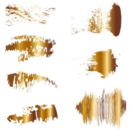 Vector illustratie van Gold borstel