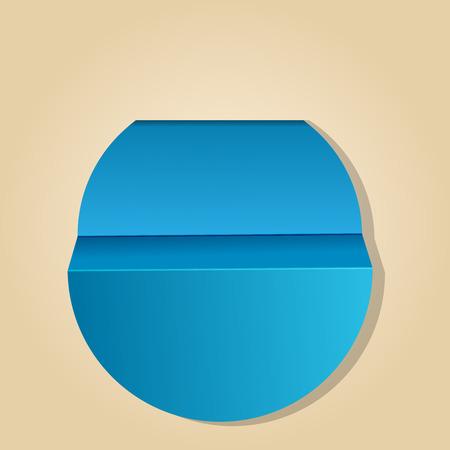 Vector illustratie van blauwe label Stock Illustratie