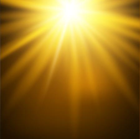 Vector illustratie van de gele zon