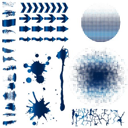 Vector illustratie van blauwe borstel