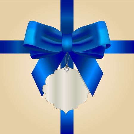 Vector illustratie van de blauwe boog