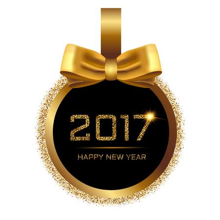 Vectorillustratie van gelukkig Nieuwjaar 2017.