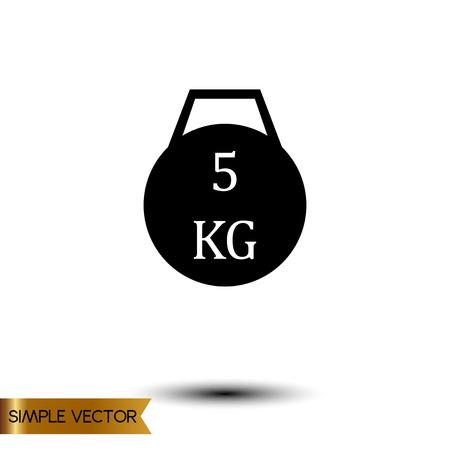 Vectorillustratie van 5 kg gewicht.