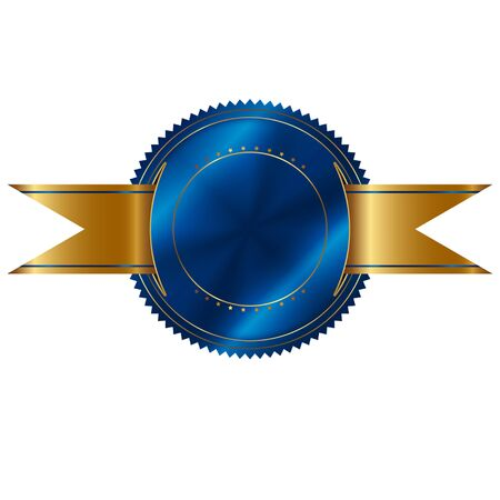 Vectorillustratie van blauwe verbinding. Stock Illustratie