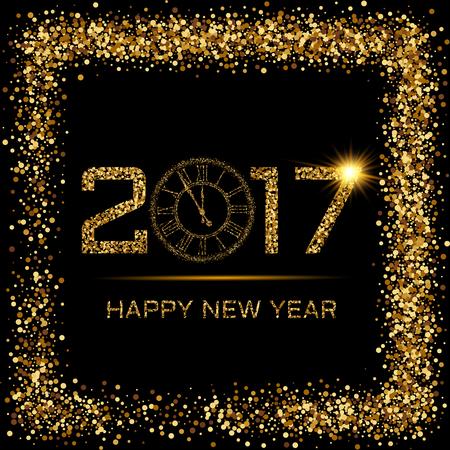 Vectorillustratie van gelukkig nieuwjaar. Stock Illustratie