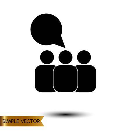 Mensenpictogram op witte achtergrond, vectorillustratie.