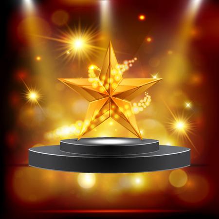 Vector illustration of gold star.