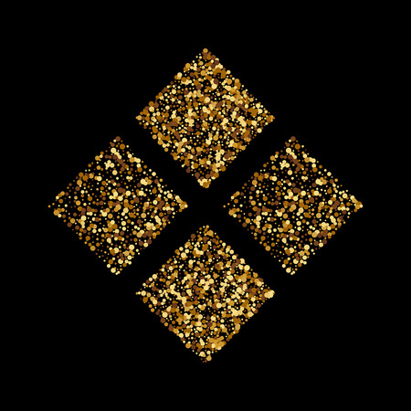 Vector illustration of golden squares.