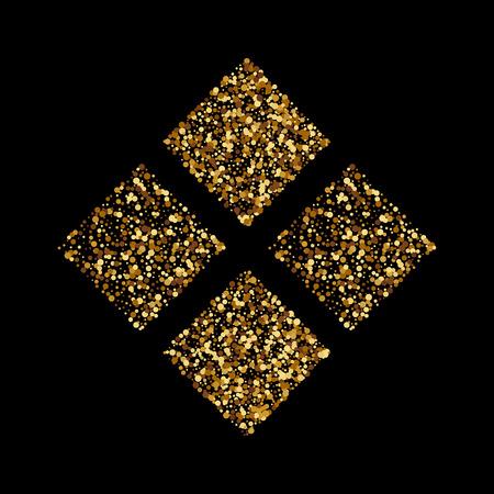 Vectorillustratie van gouden vierkanten.