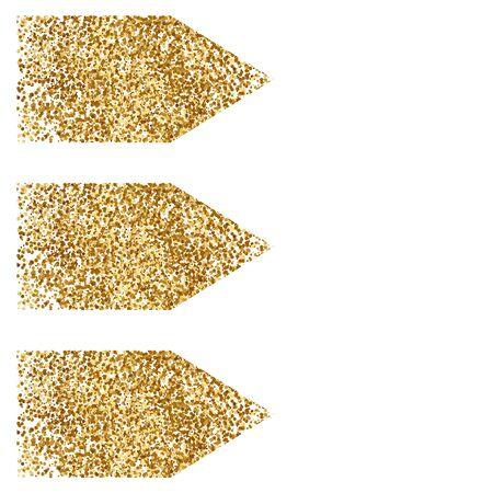 Vectorillustratie van drie gouden pijl.
