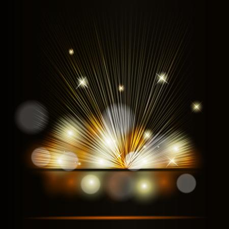 Vectorillustratie van spotlight achtergrond.