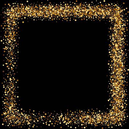 Gouden spatten op zwarte achtergrond.