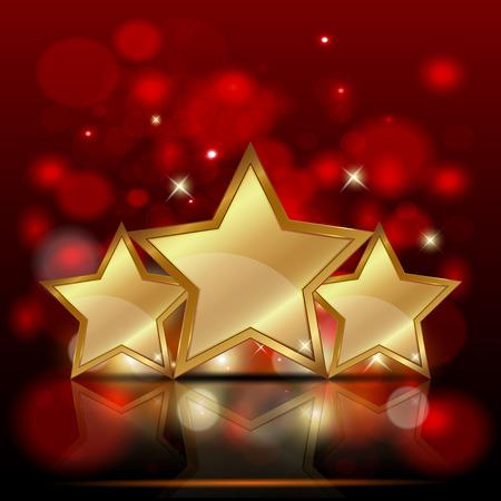 Vectorillustratie van drie gouden ster.