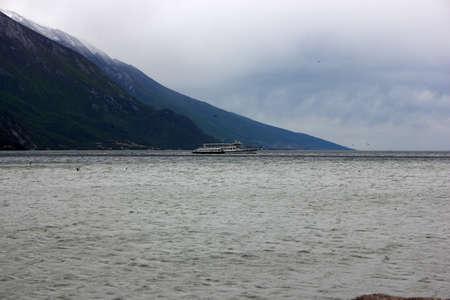 Garda Lake Ferry in May Banco de Imagens