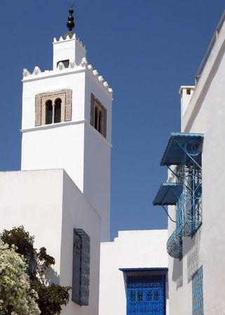bu: View of Sidi bu Said famouse historical Tunisian city