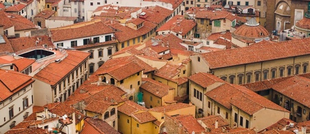 Top view on the roofs of Florence photo