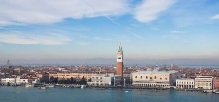View of Venice from the top on a clear day in winter photo