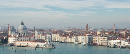 Panorama of Venice in the winters day photo