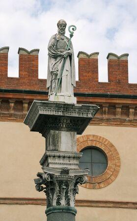 vitaly: Statue of St. Vitaly in the Piazza del Popolo in Ravenna, Italy