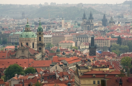 Panorama view of Prague from the height