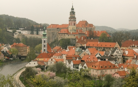 czech culture: View of the city of Cesky Krumlov in South Bohemia